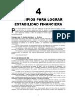 4 Principios Para Estabilidad Financiera