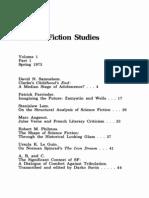 Science Fiction Studies - 001 - Vol. 1, No. 1, Spring, 1973
