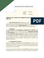 Modelo de Apelación de Papeleta de Transito