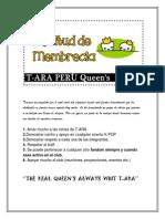 Solicitud de Membrecia T-ARA PERU