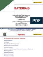 Materiais Prova 1 V2