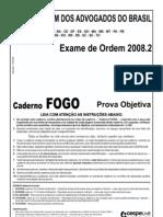 Exame OAB 2008-2 Prova Objetiva - Caderno Fogo