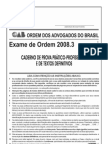 Exame OAB 2008-3 Prova Prático Profissional - Direito Empresarial