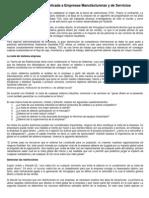 Teoría de Restricciones Aplicada a Empresas Manufactureras y de Servicios