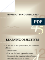 BURNOUT IN COUNSELING