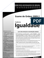 Exame OAB 2009-2 Prova Objetiva - Caderno Igualdade