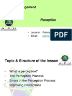 Lecture 02 Perception