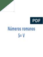 Números Romanos V