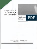 Nuevo Curso de Lógica y Filosofía - Guillermo A. Obiols - Sumario - índice - Prólogo