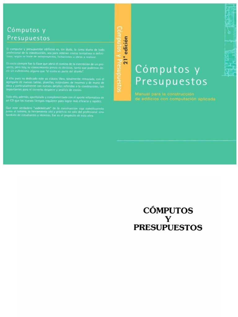 chandias computo y presupuesto pdf gratis