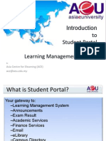 1) Introduction to Student Portal & Lms