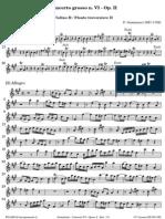Geminiani Concerto Grosso VI Op 2 Flauto II 1