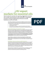 Promising EU Export Markets for Essential Oils
