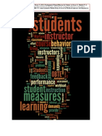 Toward Formative Measures for Students in Outcomes Based Training & Education