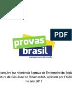 Prova Objetiva Enfermeiro Prefeitura de Sao Jose de Ribamar Ma 2011 Fsadu