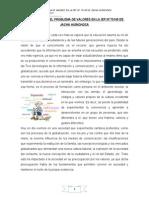 Tratamiento Del Problema de Valores en La Iep Nº 70145 de Jacha Huinchoca