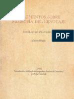 Anselmo de Canterbury - Fragmentos Sobre Filosofía Del Lenguaje (Castañeda, Ed)