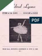 1966 Myldred Lyons Dance Program