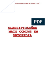 Classificações Mais Comuns Em Ortopedia