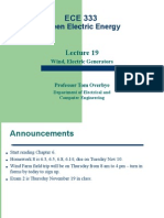 Green Electric Energy Lecture 19