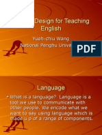 Course Design for Teaching English