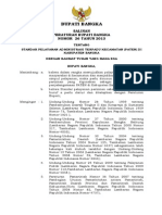 Salinan Perbup No. 26 Th 2013 Ttg Standar Pelayanan Administrasi Terpadu Kecamatan (PATEN) Di Kab. Bangka
