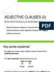 Adjective Clauses (2)