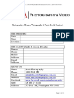 Wedding Contract - Ateia Photography & Video