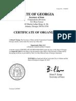 Opportunity Hub Certificate of Organization 081613