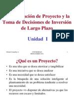 Unidad I, Toma de Decisiones de Inversion a Largo Plazo
