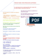 igcse units b movement and posistion revision guide
