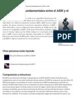 Las Diferencias Fundamentales Entre El ARN y El ADN _ EHow en Español