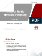 Radio Network Planning Flow