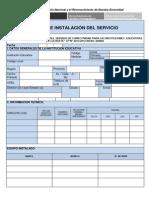 Ficha de Instalacion Adsl2012