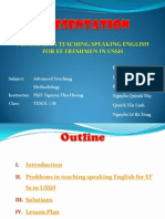 Problems in teaching speaking English