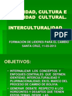 Identidad Cultura e Interculturalidad