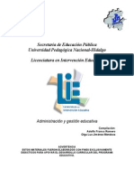 Administración y Gestion Educativa