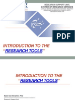 "Introduction to the ""Research Tools"""
