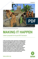 Making it Happen: Oxfam's proposals for the post-2015 framework