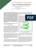 Vertical Clustering of 3D Elliptical Helical Data