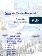 Iarna de Vasile Alecsandri
