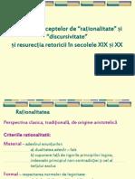 Retorica - Tema 1 Resurectia Retoricii in Secolele XIX Sii XX