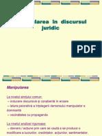 Retorica - Tema 4 Manipularea in Discursul Juridic