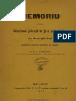 Memoriu Asupra Situatiunei Fabricei de Bere Din Bucurestii Noui_N Basilescu