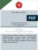 Presentasi Decomp Cordis (Gagal Jantung) Part II