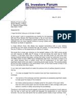 Letter to Ravi Shankar Prasadji