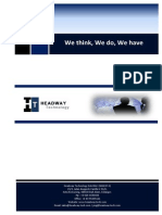 HEADWAY TECHNOLOGY SDN. BHD. PRODUCT CATALOGUE