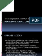Microsoft Excel 2007 - Fungsi Logika