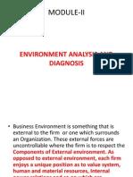 Environment Analysis & Diagnosis