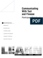 Workbook - Communicating With Tact and Finesse